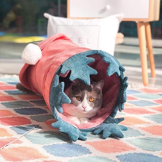 FoggDanieler Túneles para Gatos,Artículos para Gatos,Tubos y túneles para Animales pequeños,Juguetes Gato,Juguetes Gatos interactivos,Cat House,Gatos Accesorios,Conejos,Túneles,Rosa 56 * 25cm: Amazon.es: Productos para mascotas