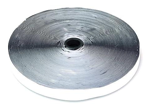 2M Klettband Haken Flausch Klettverschluss Breite 20 mm selbstklebend schwarz