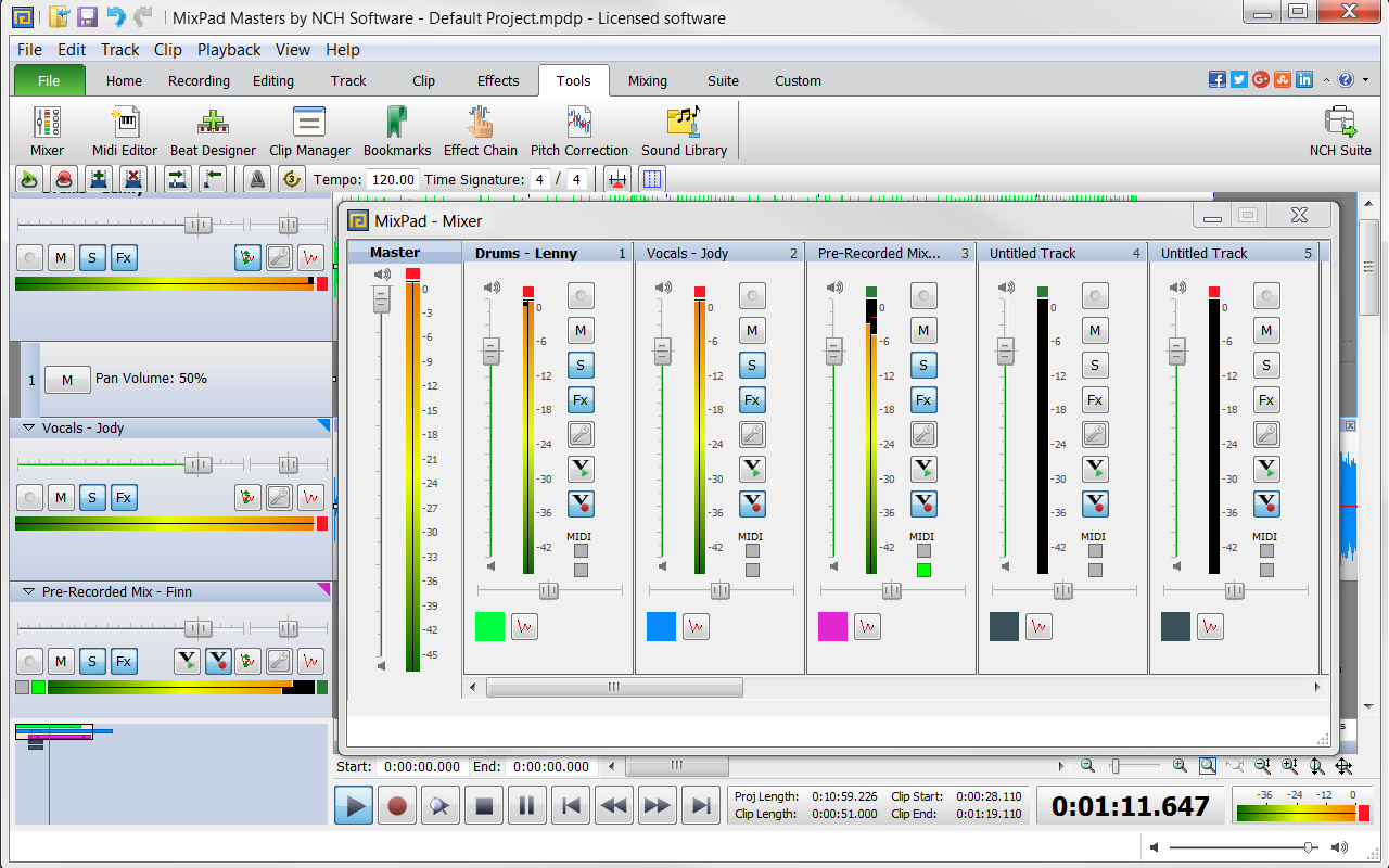 MixPad Multitrack Recording Software for Sound