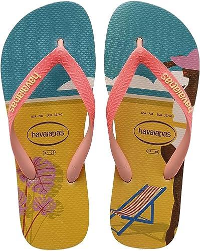 Havaianas Top Fashion, Chanclas Mujer, Rojo (Rust), 33/34 EU: Amazon.es: Zapatos y complementos