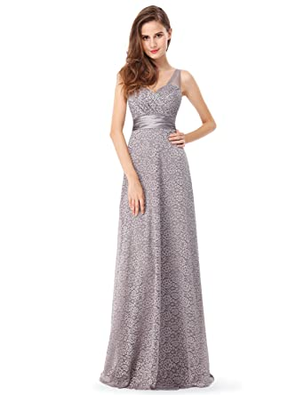 Ever Pretty Floral Print Sweetheart Neckline Long Prom Dress For Women With Empire Waist 20UK Grey