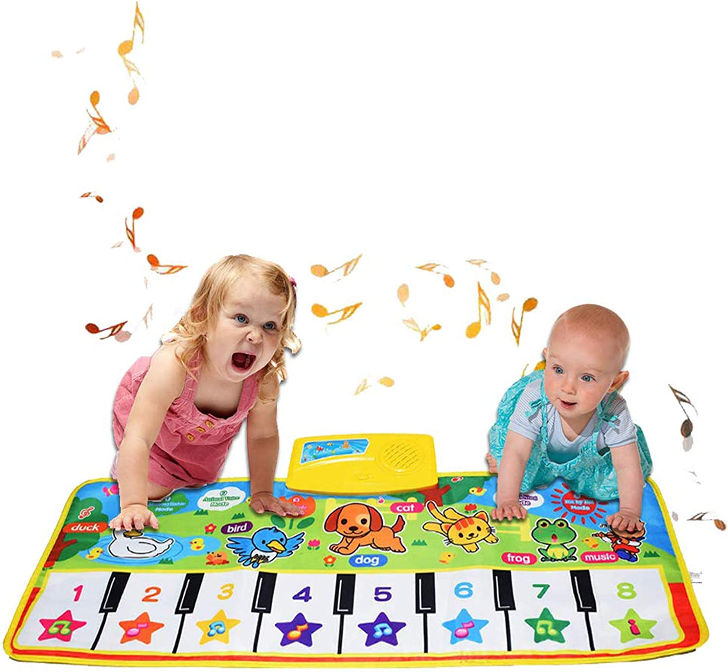 Touch Play Mat Early Education Music Toys,Step On Playmat,for 3 Years Old Girls MOVKZACV Kids Musical Mat Toys,Piano Mat Keyboard Dancing Mat with 8 Instrument Modes