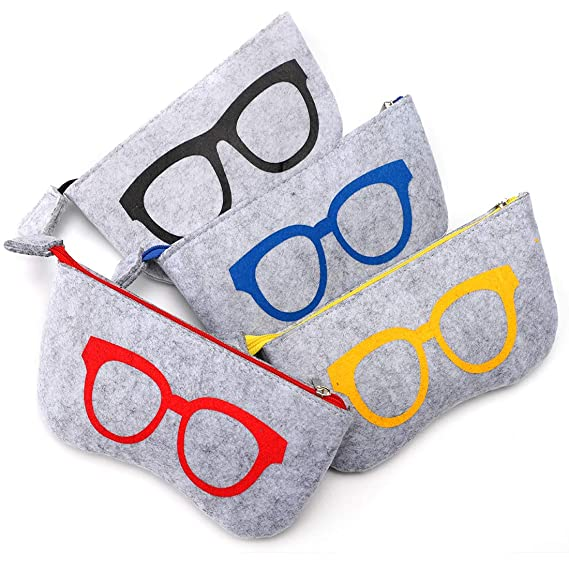 Soleebee 4 Piezas Bolsas para Gafas de Sol Portátiles Funda ...