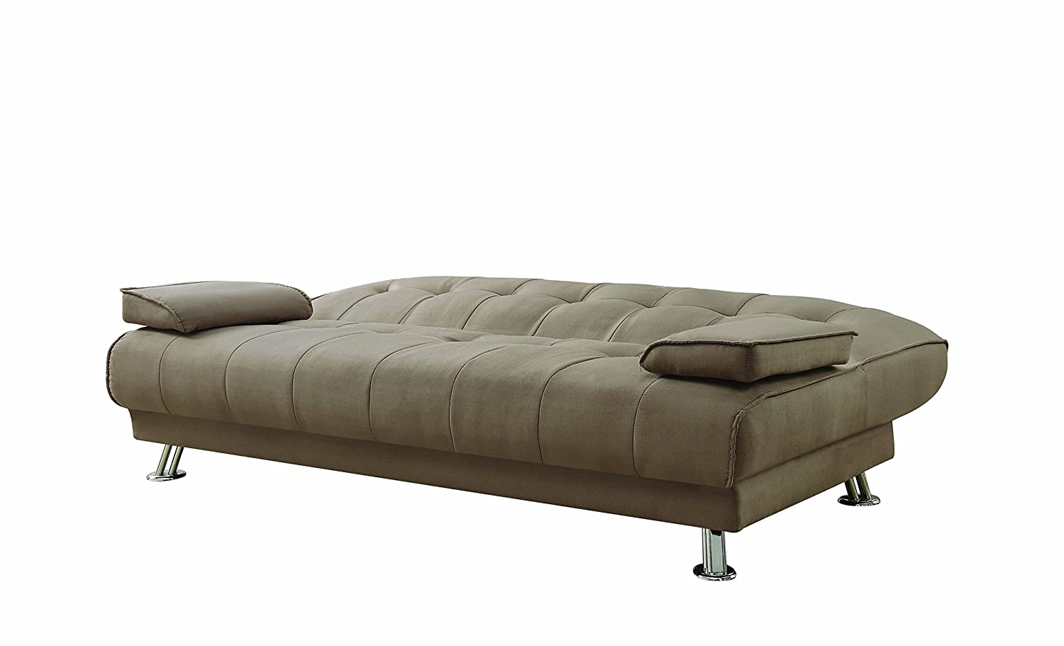 Convertible Sofa Bed with Removable Armrests Tan