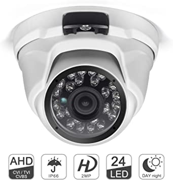 3.6mm HD 1080P 2MP AHD CCTV Camera Dome Security IR Color 24 Leds night vision
