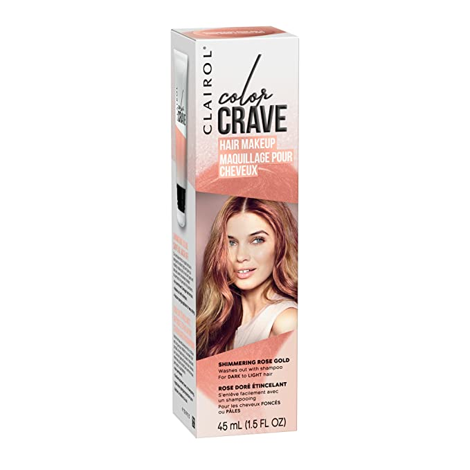 Amazon Com Clairol Color Crave Temporary Hair Color Makeup Shimmering Rose Gold 1 Count Beauty