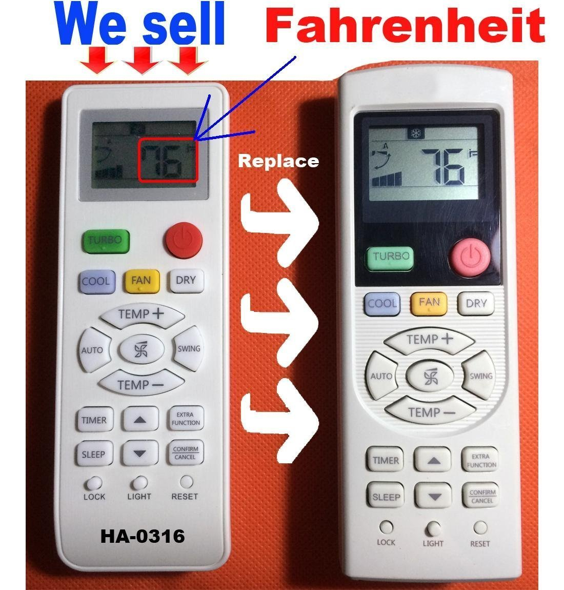 HA-0316 Replacement for Haier Air Conditioner Remote Control Model Number Yl-hd01 Yl-hd02 Yl-hd03 Yl-hd04 Yl-hd05 Yl-hd06 yr-hd01 yr-hd02 yr-hd03 yr-hd04 yr-hd05 yr-hd06 yr-hd** Yl-hd**
