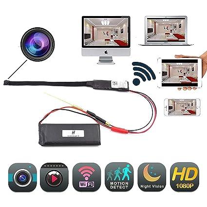 Hidden Camera 1080P HD Spy Nanny Cam Mini Small Wireless WiFi Security Camera Motion Detection Alarm