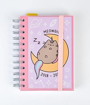 Grupo Erik Editores Pucheen the cat- Agenda escolar 2018-2019 día página multilingüe, 11.4 x 16 cm