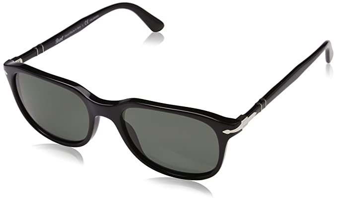 319ee00f6992c Amazon.com  Persol Men s 0PO3191S Black Crystal Green Polarized One ...