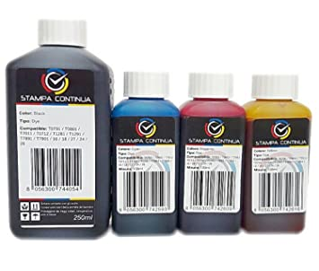 Tintas 550ml compatible con cartuchos Epson 27 / 27XL para ...