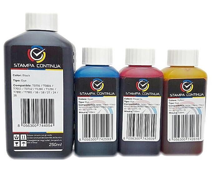 4 botellas de tinta compatible con Ciss Epson 16 / 16XL para ...