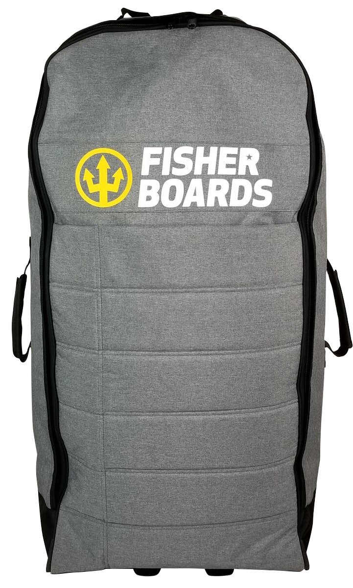 Fisher Boards Inflatable Paddle Board Backpack Wheeled Carrying Bag