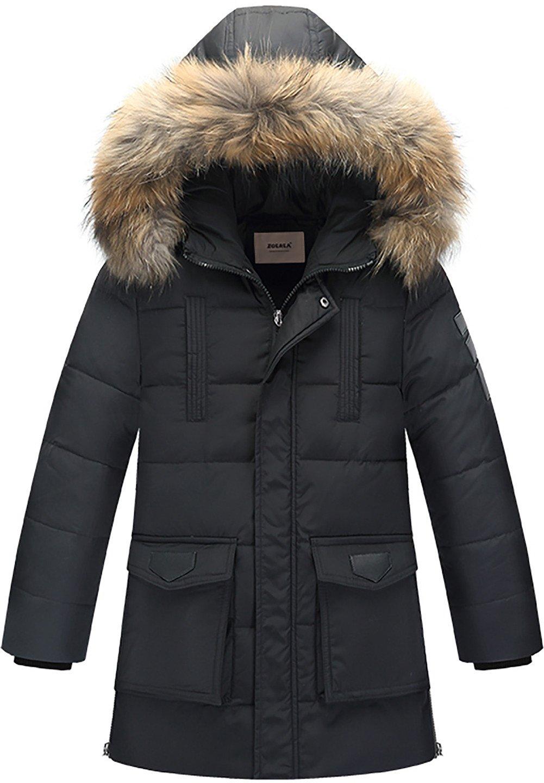 zoerea Combinaison de Neige manteau Doudoune à capuche verdicken garçon chaud enfants Trench hiver vêtements zon-e YS2464-BK-130