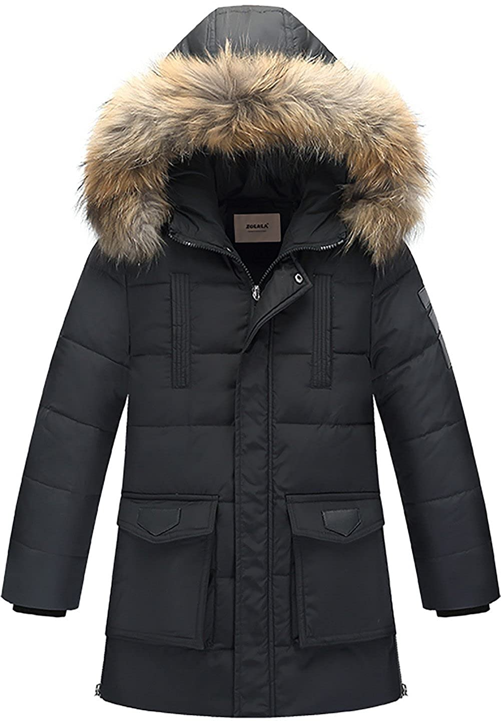 ZOEREA Boys Warm Down Jacket Kids Winter Coat Hooded Thicken Outfits Packable Light Weight Coats Clothes