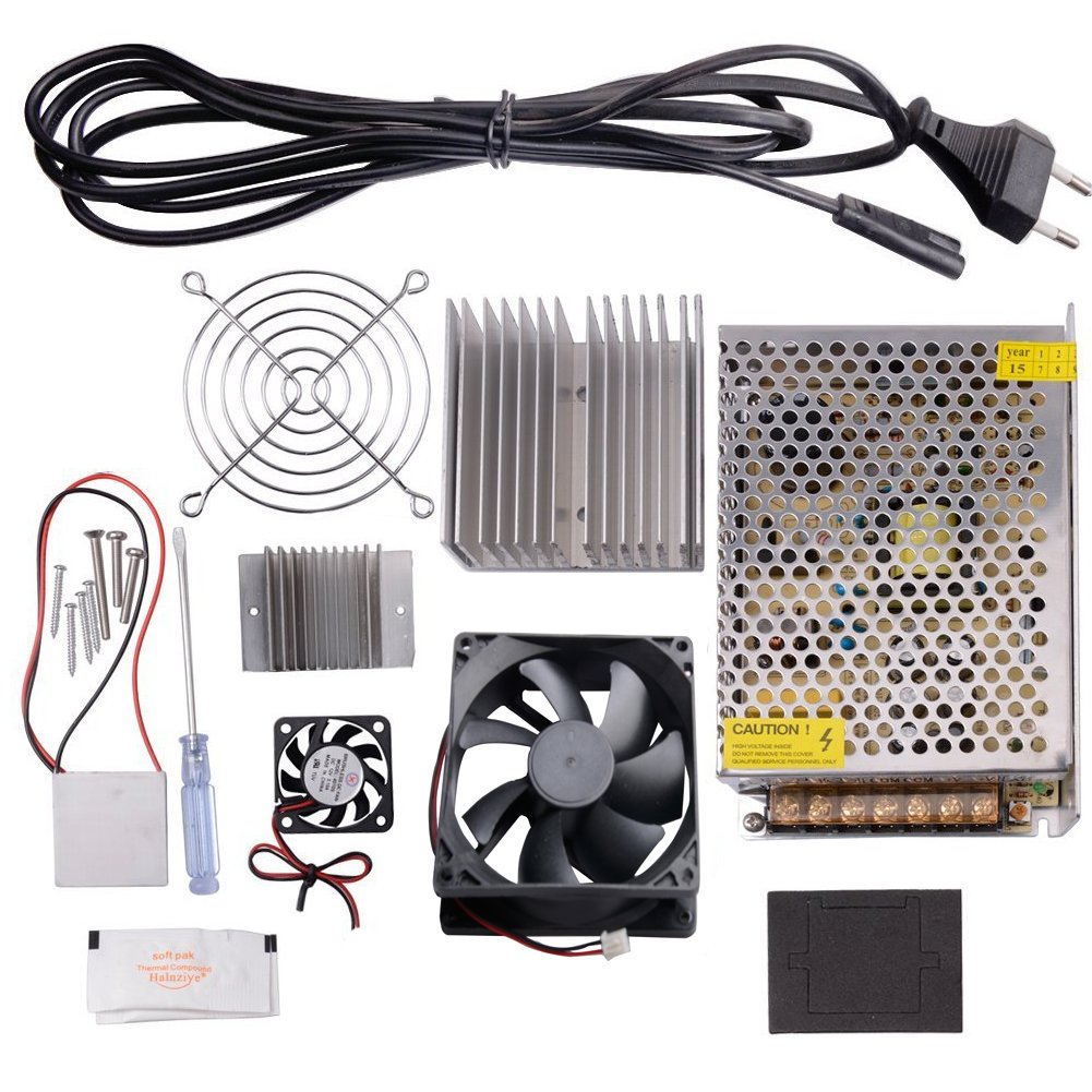 CHENBO TM Thermoelectric Cooler Peltier Tec1-12706 Kit Cold Plate Refrigeration Space Cooling Study Kit,Cooling System Learning Packages