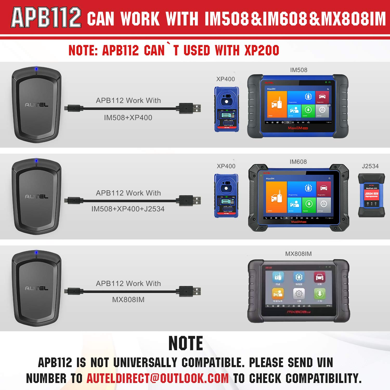 IM608 /& MX808IM Autel APB112 Smart Key Simulator for IM508
