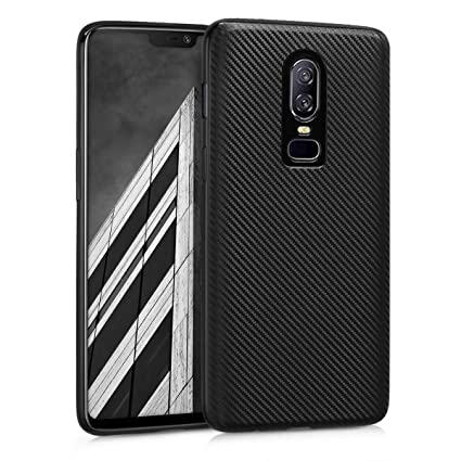 info for ec557 91d07 kwmobile TPU Silicone Case for OnePlus 6 - Soft Flexible Shock Absorbent  Protective Phone Cover - Black