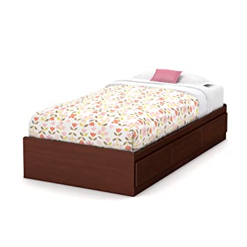 summner breeze twin storage bed royal cherry - Twin Storage Bed Frame