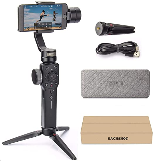 Amazon.com : Zhiyun Smooth 4 3-Axis Handheld Gimbal Stabilizer YouTube Video Vlog Tripod for iPhone 11 Pro Xs Max Xr X 8 Plus 7 6 SE Android Cell Phone Smartphone : Camera & Photo