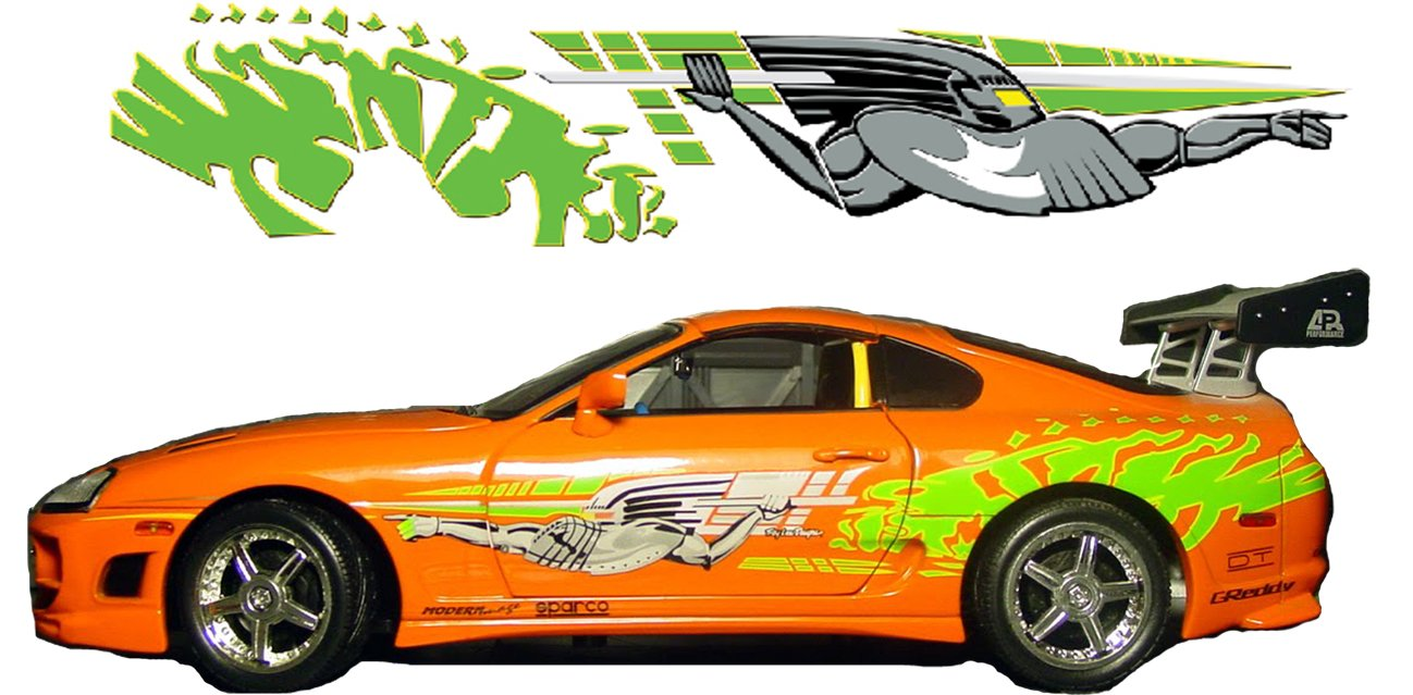Amazon com fast and furious inspired toyota supra knight graphics design everything else
