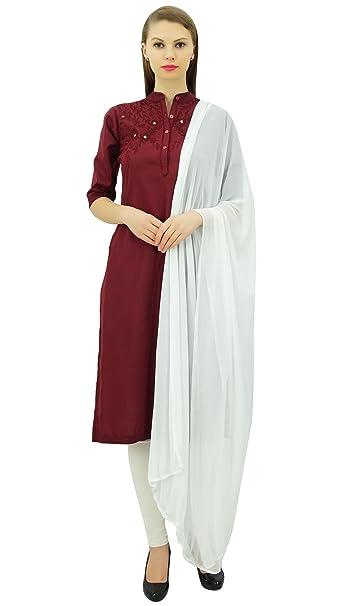 Amazon.com: Atasi Designer bordado lino Salwar Kameez traje ...