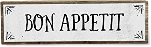 ANVEVO Bon Appetit - Metal Wood Sign Light - Kitchen Decor - Rustic Farmhouse Kitchen Decor Wall Sign