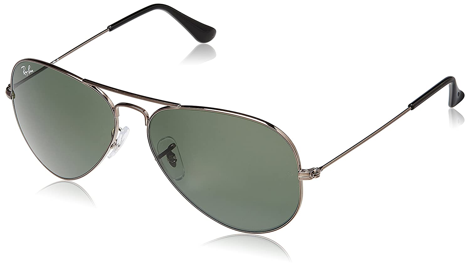 5055fcf08c879 Ray-Ban Aviator Sunglasses (Natural Green) (RB3025 004 58 14)  Amazon.in   Clothing   Accessories