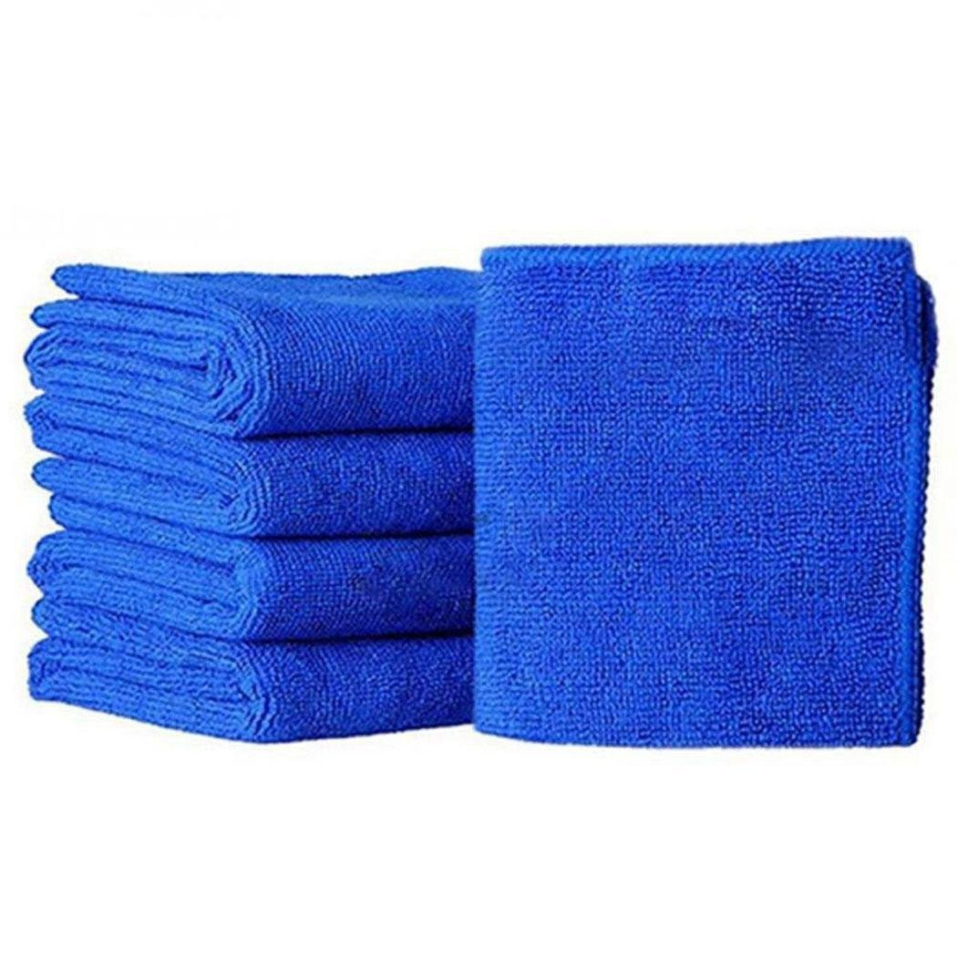 Adoeve Microfiber Square Water Absorption Not Falling Hair Car Cleaning Towel (Blue)