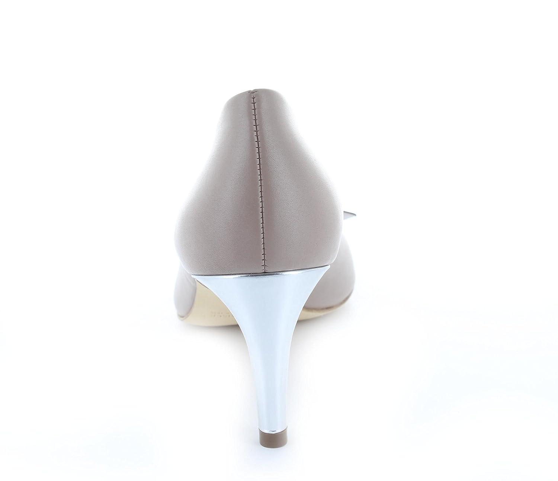 d23011c0d6332f Peter Kaiser Damen Elegante Pumps Spitz 74137 Rexa Schleife Schmale Absatz  65 mm Taupe Silber Leder  Amazon.de  Schuhe   Handtaschen