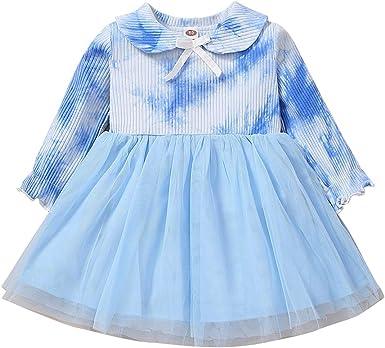 Fyhuzp 2Pcs Baby Girls Outfit Animal Print T-Shirt Top+Princess Tutu Skirt Lace Short Sleeve Tulle Skirt Party Set