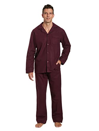 Noble Mount Mens 100% Cotton Flannel Pajama Set with Pant Pockets ... adb349607