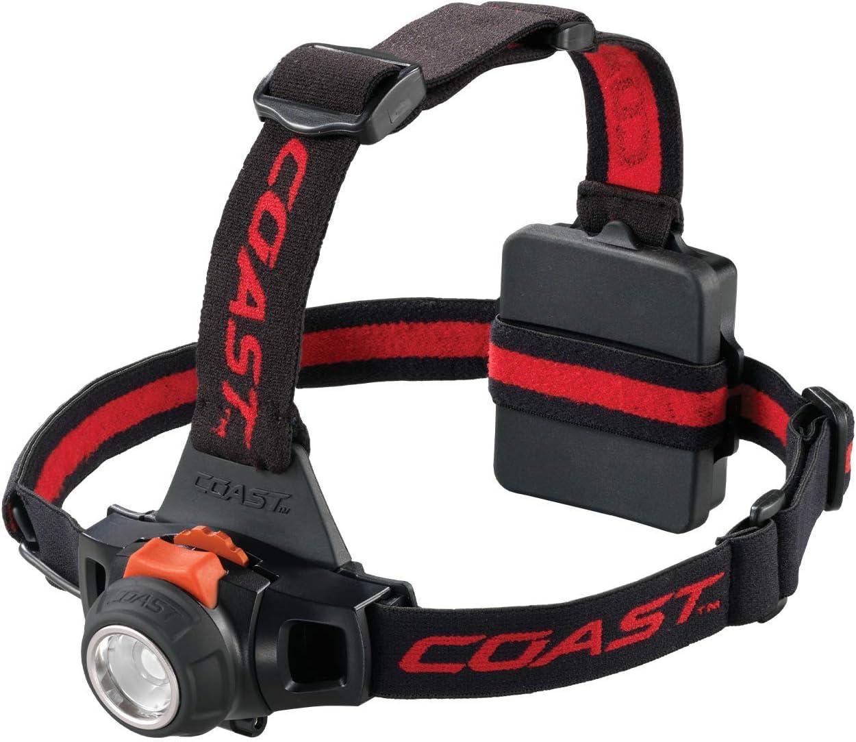 Coast Hl27 360 Lumen Pure Beam Focusing Led Headlamp With Twist Focus And Variable Light Control Wheel Black Blacks 330 Lumens Amazon Com