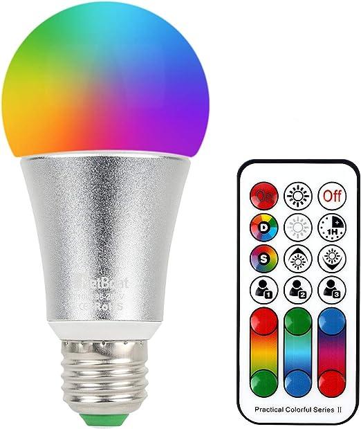 NetBoat Bombillas Led E27,10W Bombillas Colores RGBW,120 Colours Dimmabl,Temporización y memoria dual - RGB + Blanco 5700K: Amazon.es: Iluminación