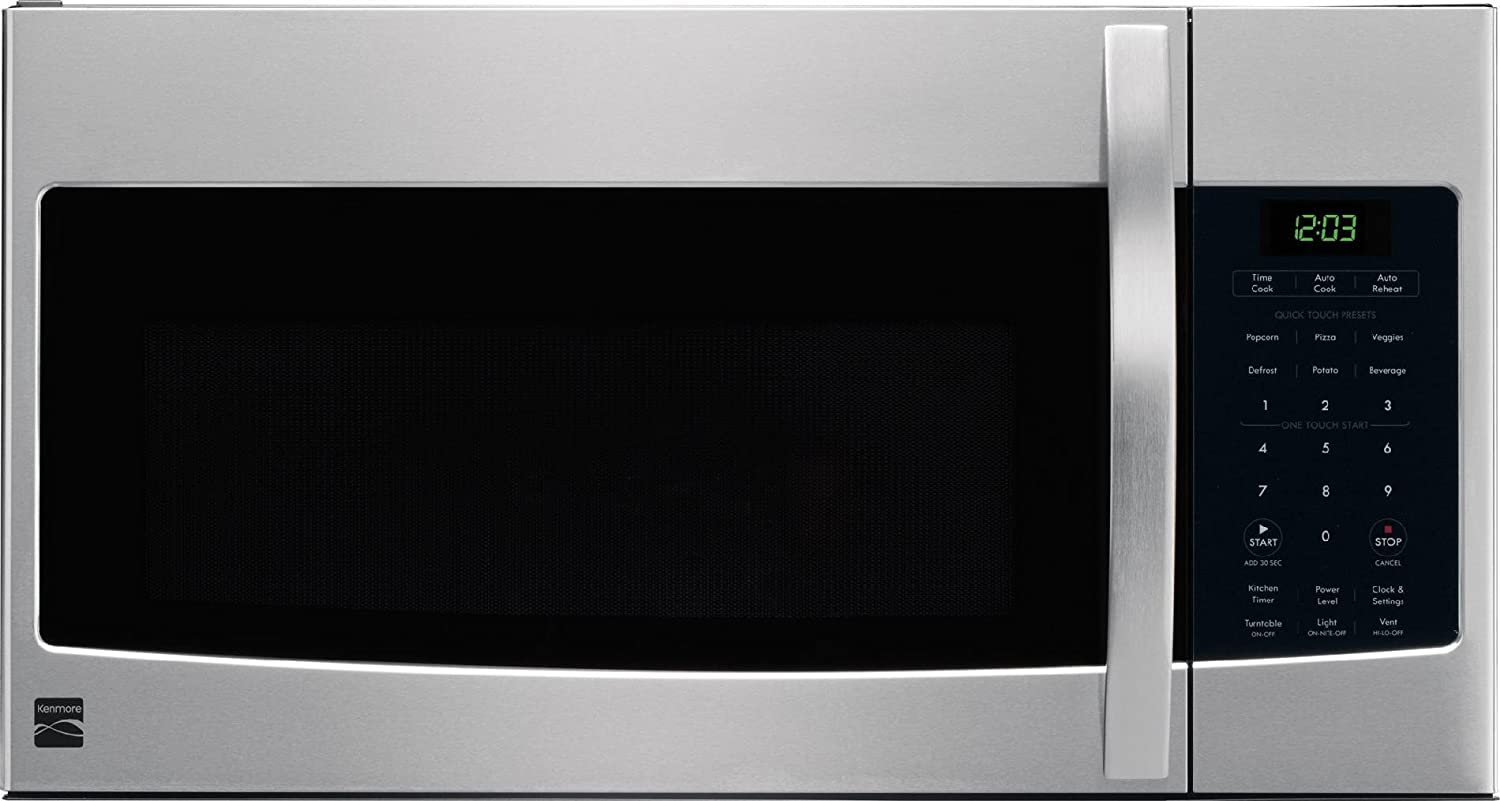 Amazon.com: Kenmore 80323 Microhood Stainless Steel Over-the-Range Microwave  (1.6 Cu Ft, 1000 Watts): Appliances