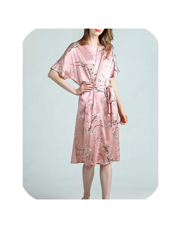 Pink Dremwardrobe Sleepwear Pajama 100% Pure Silk Women Floral Printed Pattern Organic Fabric Summer
