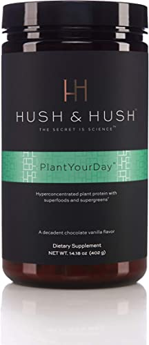 PlantYourDay Plant-Based Vegan Protein Powder Chocolate Flavor Low Calorie Prebiotics and Probiotics Fiber with Greens and Superfoods