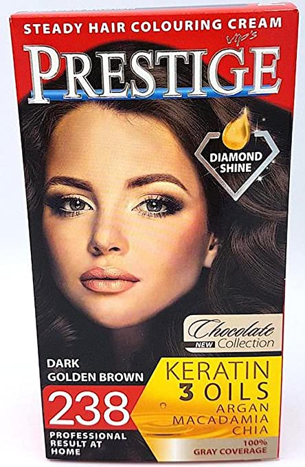 Vips Prestige Tinte Permanente para cabello Color 238 Marrón Oscuro