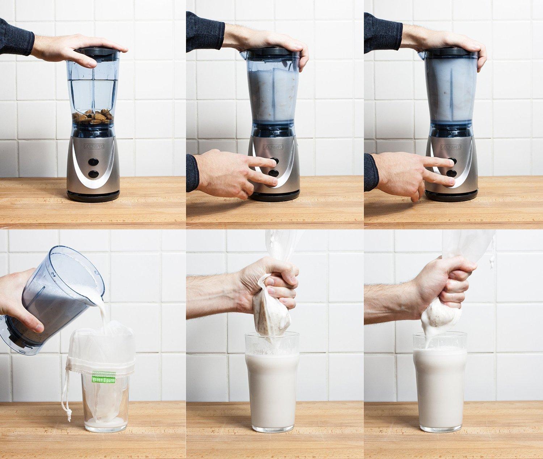 ... bolsa para hacer leches vegetales,bolsa para hacer queso, zumos (Paquete de 2) vegetales100% Nylon Perfecto como colador: Amazon.es: Hogar