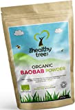 Organic Baobab Powder - High in Fibre, Calcium, Vitamin C and Antioxidants - Great on Porridge and in Smoothies - Pure Superfruit Baobab Powder by TheHealthyTree Company