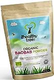 Poudre de Baobab BIO - Riche en fibres, calcium, vitamine C et antioxydants - Excellente sur la bouillie et les smoothies - Poudre pure du superfruit baobab par TheHealthyTree Company
