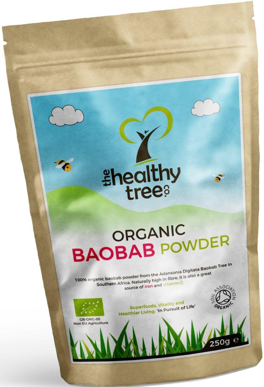 TheHealthyTree Company Baobab Orgánico en Polvo - 250g: Amazon.es: Salud y cuidado personal