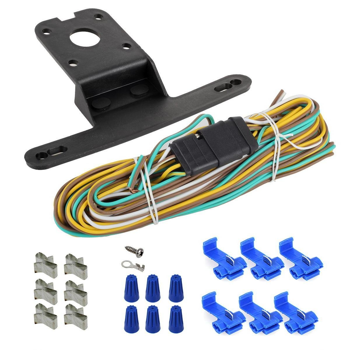 Partsam Led Light Kit Trailer Truck Tail Turn Stop Boat Harness The White Wire Ground On Following Wiring Amber Side Marker W Total Of 4pcs Submersible Marine