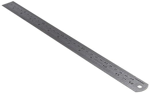 51 opinioni per Silverline MT66 Riga in Acciaio, 300 mm