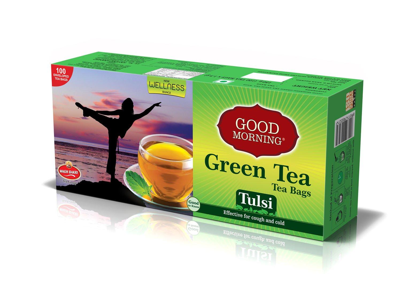 Good Morning Green Tea Tulsi Tea 150g Amazon In Grocery Gourmet Foods
