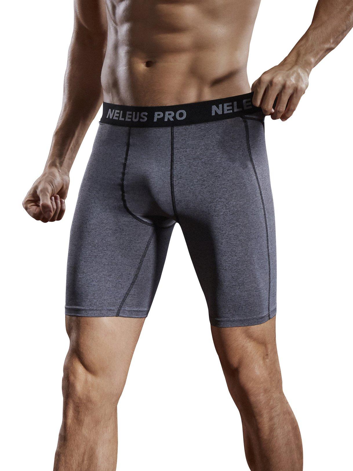 Neleus Men's 3 Pack Compression Short,047,Grey,US S,EU M by Neleus (Image #5)