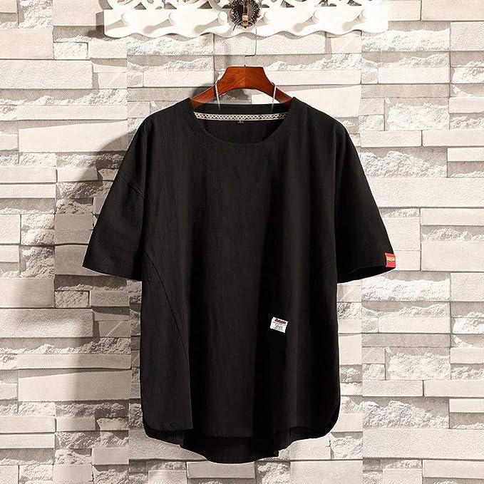 XuanhaFU Mezcla de Algodón tee Shirt 1 Pack, Color Sólido Cuello ...