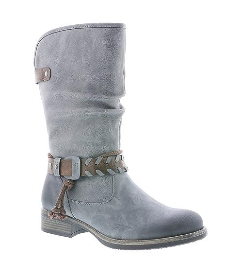Rieker Damen Klassische Stiefel 98861,Frauen Boots,Schlüpf Stiefel,Slip On Boot,Blockabsatz 3.3cm
