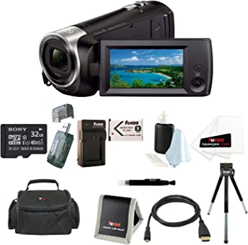 Sony CX405 1080p Camcorder with 32GB Deluxe Accessory Kit