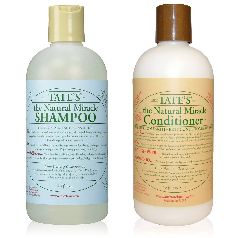 Tate's Natural Miracle Shampoo 18 fl oz & Conditioner 18 fl oz